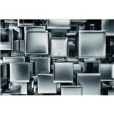 Vliesové fototapety kovové kocky rozmer 375 cm x 250 cm