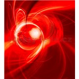 Vliesové fototapety abstrakt oranžový rozmer 225 cm x 250 cm