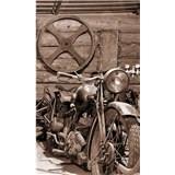 Vliesové fototapety Vintage garáž rozmer 150 cm x 250 cm