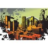 Vliesové fototapety mesto rozmer 375 cm x 250 cm