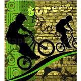 Vliesové fototapety bicycle green rozmer 225 cm x 250 cm