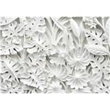 Fototapety 3D kvety biele rozmer 254 cm x 184 cm