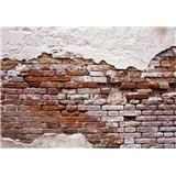 Vliesové fototapety stará tehlová stena rozmer 368 cm x 254 cm