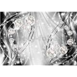 Vliesové fototapetynty 3D brilianty s vlnovkami rozmer 368 cm x 254 cm