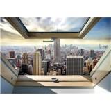 Vliesové fototapety New York Manhattan pohľadom zo strešného okna rozmer 254 cm x 368 cm