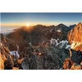 Vliesové fototapety Alpy a západ slnka 104 cm x 70,5 cm