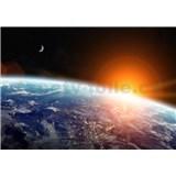 Vliesové fototapety pohľad na zem z vesmíru rozmer 368 cm x 254 cm