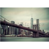 Vliesové fototapety New York a Brooklynský most rozmer 254 cm x 368 cm