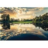 Vliesové fototapety odraz nebe na jazere rozmer 368 cm x 254 cm