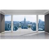 Fototapety 3D terasa s výhľadom na mesto, rozmer 368 cm x 254 cm