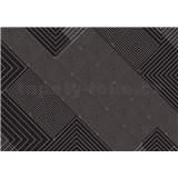 Vliesové fototapety geometrický vzor čierno biely rozmer 208 x 146 cm - POSLEDNÝ KUS