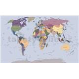 Vliesové fototapety mapa sveta rozmer 104 cm x 70,5 cm