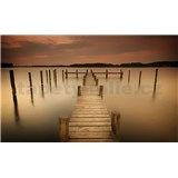 Fototapety molo na řece, rozmer 312 x 219 cm