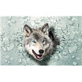Vliesové fototapety 3D vlk, rozmer 312 cm x 219 cm