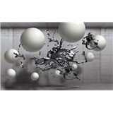 Vliesové fototapety 3D abstrakt a guľa rozmer 104 cm x 70,5 cm