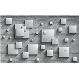 Vliesové fototapety 3D štvorce, rozmer 312 cm x 219 cm
