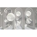 Fototapety 3D biele gule