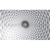 Vliesové fototapety 3D abstrakcie sivo-biela, rozmer 312 cm x 219 cm