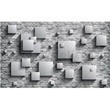 Vliesové fototapety 3D kamenná stena rozmer 416 cm x 254 cm