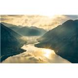 Vliesové fototapety Hefele zlaté hory, rozmer 400 cm x 280 cm