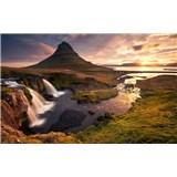 Vliesové fototapety Hefele ráno na Islande, rozmer 400 cm x 280 cm