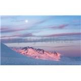 Vliesové fototapety Hefele fialový večer, rozmer 450 cm x 280 cm