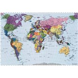 Fototapeta World Map, rozmer 270 x 188 cm