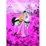 Fototapeta Disney Princezná a biely kôň rozmer 184 cm x 254 cm