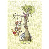 Vliesové fototapety Disney Medvedík Pú na strome rozmer 200 cm x 280 cm