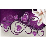 Fototapety srdce fialové s ľalií rozmer 368 cm x 254 cm