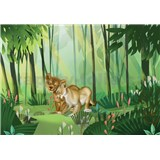 Vliesové fototapety Disney Lion King Love rozměr 400 cm x 280 cm