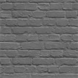 Papierové tapety na stenu Freestyle tehlová stena čierna