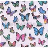 Papierové tapety na stenu Sweet & Cool motýle farební