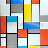 Samolepiace tapety - transparentný Mondriaan - 45 cm x 15 m