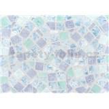 Samolepiace tapety - mozaika modrá , metráž, šírka 67,5cm, návin 15m,