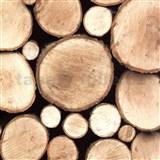 Samolepiace tapety drevené polená - 45 cm x 15 m
