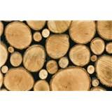 Samolepiace tapety drevené polená 90 cm x 15 m