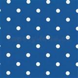 Samolepiace tapety bodky tmavo modré 45 cm x 15 m