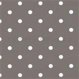 Samolepiace tapety bodky hnedo-sivé 45 cm x 15 m
