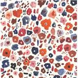 Samolepiace tapety kvetinky červeno-modré 45 cm x 15 m