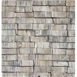 Samolepiace tapety drevené hranoly sivé 45 cm x 15 m