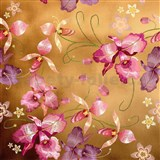 Samolepiace fólie ružová orchidea zlatá - 45 cm x 5 m