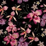 Samolepiace fólie ružová orchidea čierno-niklová - 45 cm x 5 m