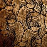 Samolepiace fólie listy zlato-čierne - 45 cm x 5 m