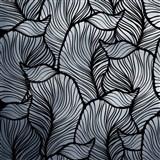 Samolepiace fólie listy listy strieborno-čierne - 45 cm x 5 m