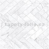 Samolepiace fólie mramorové dlaždice sivé - 45 cm x 15 m
