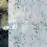 Statické fólie transparentné WILD FLOWERS - 45 cm x 15 m