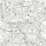 Samolepiaca tabuľová fólia Jungle - maľovanky - 67,5 cm x 1,5 m