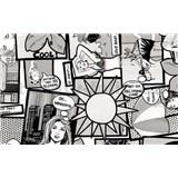 Samolepiace tapety - kreslený komiks , metráž, šírka 67,5cm, návin 15m,