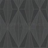 Vliesové tapety na stenu IMPOL Giulia Art-Deco vzor čierny so striebornými kontúrami